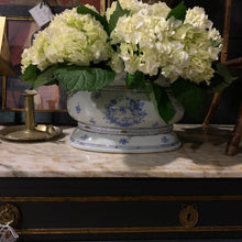 Load image into Gallery viewer, Vintage Blue & White Jardiniere