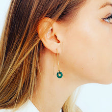 Load image into Gallery viewer, Shop the Yellow Quartz Loop Threader Earrings by Michelle Starbuck at Federal & Black