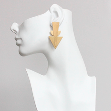 Load image into Gallery viewer, Brass Deco Earrings