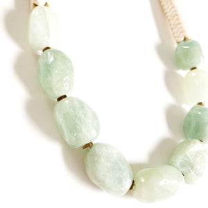 Shop the Amazonite, Magnesite & Brass Statement Necklace at Federal & Black
