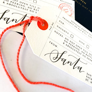 Shop the Official Santa Gift Tags by Imogen Owen at Federal & Black
