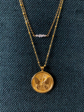 Load image into Gallery viewer, Delicate 14k gold & Herkimer Diamond necklace at Federal & Black
