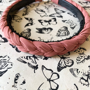 Braided Headband in Mauve Dusty Rose at Federal & Black