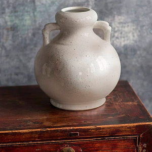 Shop our Rustic Blanc De Chine Vase with Two Handles at Federal & Black