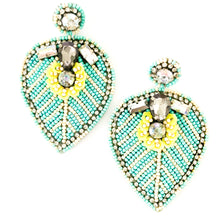 Load image into Gallery viewer, Shop the Turquoise Beaded & Glitz Earrings at Federal & Black