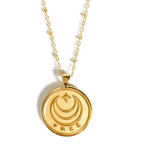 Jane Winchester 14k Gold Free Coin Pendant at Federal & Black