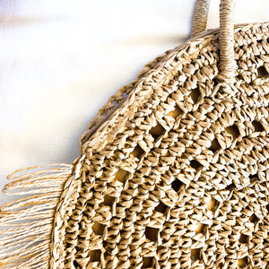 Shop the Fringe Trim Circle Shoulder Bag and others at Federal & Black