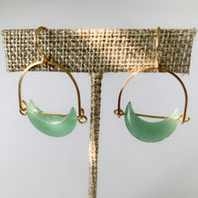 Load image into Gallery viewer, Shop our Adventurine Eclipse & Gold Plated Drop Earrings at Federal & Black