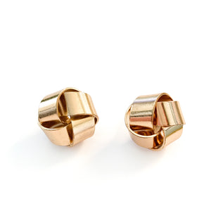 Shop our gold color Knot Post Stud Earrings at Federal & Black