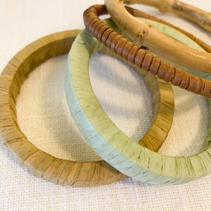 Shop our raffia wrapped bangle bracelets & bamboo bangles at Federal & Black