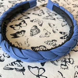 Shop braided periwinkle headband at Federal & Black