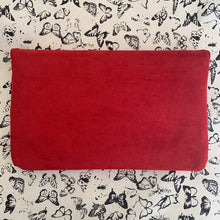 Load image into Gallery viewer, Foldover Clutch in Red w/ Gold Stud Trim