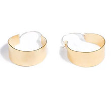 Load image into Gallery viewer, Shop these oversized Cali Hoop Earrings 18K gold plated and others at Federal & Black
