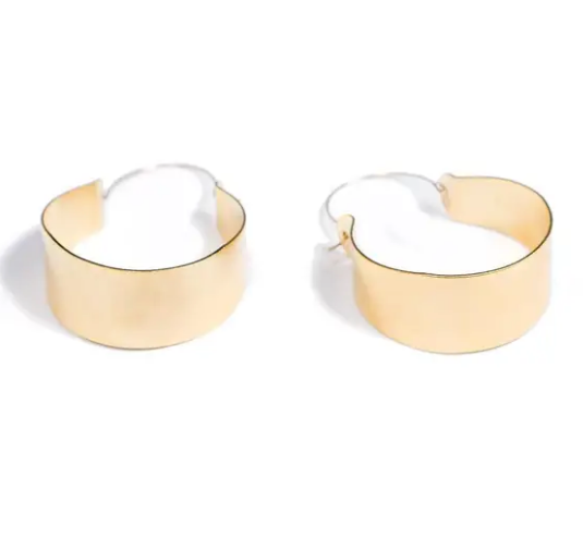Shop these oversized Cali Hoop Earrings 18K gold plated and others at Federal & Black