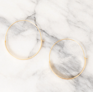 Shop the 18K gold plated Kiona Hoop Earrings and others at Federal & Black