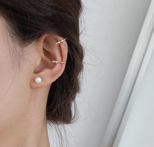 Load image into Gallery viewer, Shop the Fenella Gold Ear Cuff with Freshwater Seed Pearls at Federal & Black