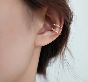 Shop the Fenella Gold Ear Cuff with Freshwater Seed Pearls at Federal & Black