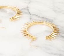 Load image into Gallery viewer, Shop the Etana Gold Spike Hoop Earrings at Federal & Black