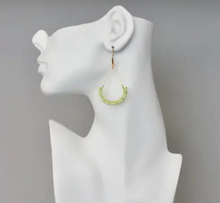 Load image into Gallery viewer, Shop the David Aubrey Lime Green Magnesite Bead & Brass Teardrop Earrings at Federal & Black