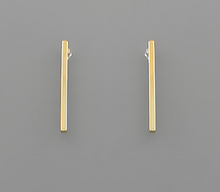 Load image into Gallery viewer, Shop the Thin Bar Post Earrings Gold Dipped at Federal & Black
