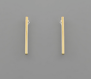 Shop the Thin Bar Post Earrings Gold Dipped at Federal & Black