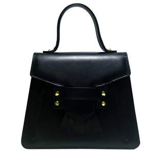 Shop the Camille Top Handle Bag in Black made of Italian Calfskin at Federal & Black