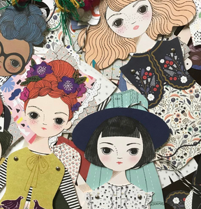 Shop the Olive Paper Doll by Of Unusual Kind at Federal & Black