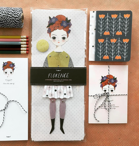 Shop the Florence Paper Doll by Of Unusual Kind and others at Federal & Black