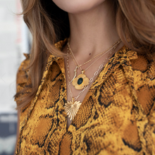 Load image into Gallery viewer, Protect Scarab Quatrefoil Pendant Necklace
