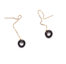 Load image into Gallery viewer, Shop the Black Agate Loop Threaders by Michelle Starbuck at Federal & Black