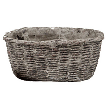 Load image into Gallery viewer, Shop the Cement Basket Planter by Vagabond Vintage at Federal & Black