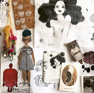 Shop the Rose Marie Paper Doll by Of Unusual Kind at Federal & Black