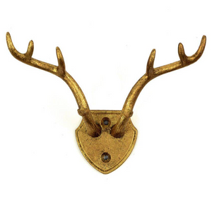Cast Iron Gold Antler Hook