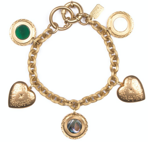 Shop the Anniversary Charm Bracelet in Brass by Michelle Starbuck at Federal & Black
