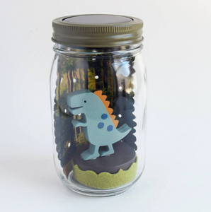 Dinosaur Mason Jar Solar Light
