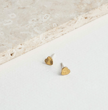 Load image into Gallery viewer, Shop the Tiny Brass Starburst Stud Earrings by Michelle Starbuck at Federal & Black