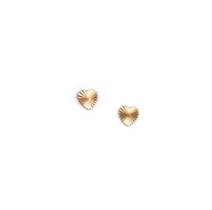 Shop the Tiny Brass Starburst Stud Earrings by Michelle Starbuck at Federal & Black
