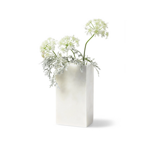Shop the Marmo White Marble vase (rectangle shaped) at Federal & Black