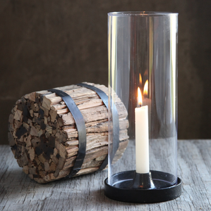 Iron Hurricane Taper Candle Holder