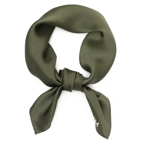 Klein 100% Silk Bandana Scarf in Emerald
