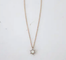 Load image into Gallery viewer, Starlit Necklace w/ White Opal