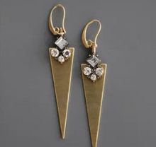 Load image into Gallery viewer, 18k Gold Plated Brass Dagger Earrings by David Aubrey