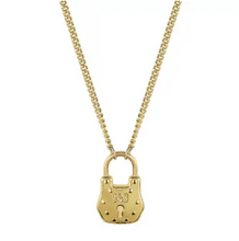 Load image into Gallery viewer, Love Lock Necklace 18k Gold Plated