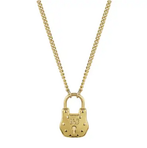 Love Lock Necklace 18k Gold Plated