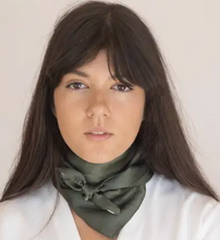 Load image into Gallery viewer, Klein 100% Silk Bandana Scarf in Lavender