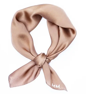 Klein 100% Silk Bandana Scarf in Golden