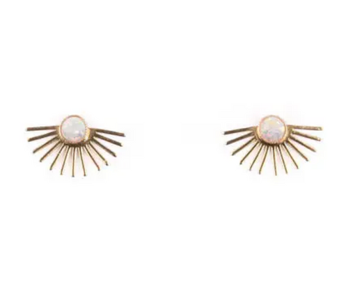 Shop the Michelle Starbuck Opal Beam Studs at Federal & Black