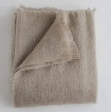 Load image into Gallery viewer, Mohair Throw in Ash
