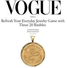 Load image into Gallery viewer, Shop Vogue Magazine pick, the Protect Coin Pendant by Jane Winchester, at Federal & Black