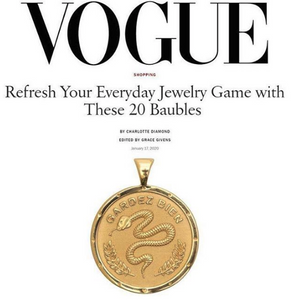 Shop Vogue Magazine pick, the Protect Coin Pendant by Jane Winchester, at Federal & Black